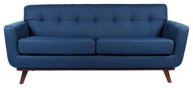 Retro 3-Seater Sofa, Daffodil - Midcentury - Sofas - by ergode