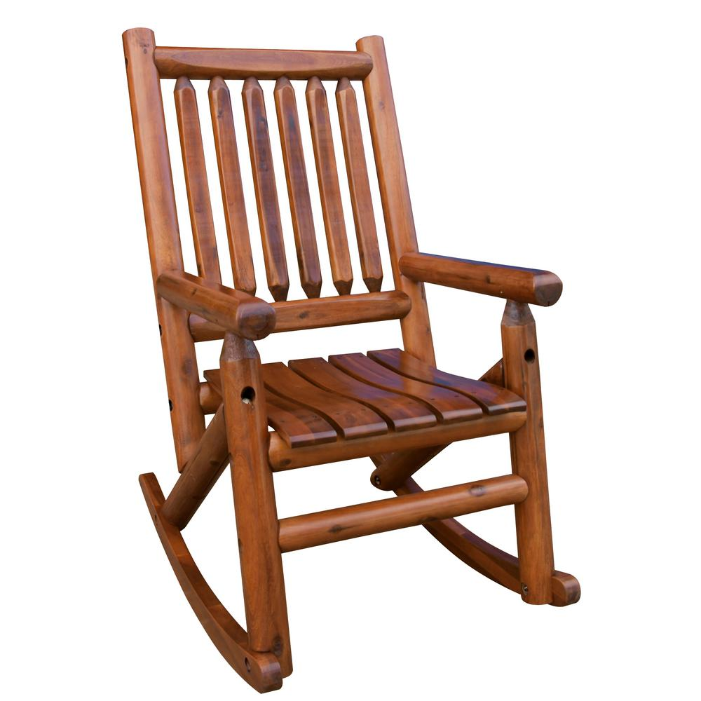 Leigh Country Amberlog Patio Rocking Chair