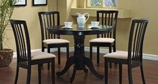 Image Unavailable. Image not available for. Color: 5 Pc Round Dining Table  4 Chairs