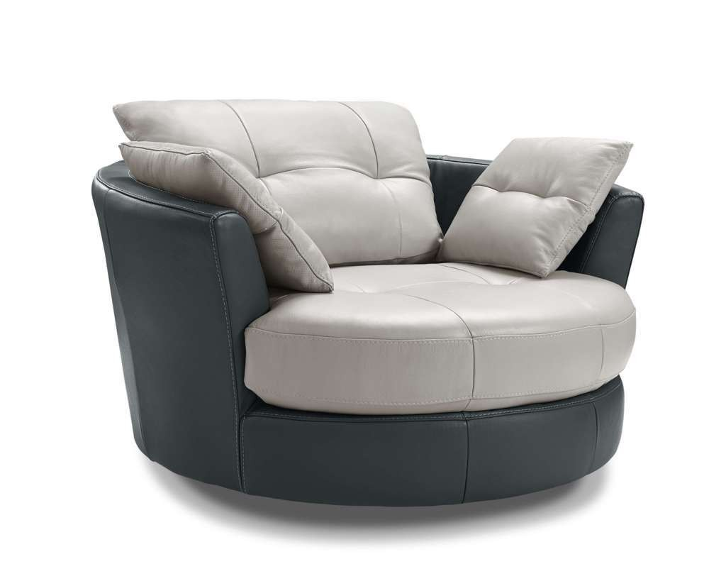 Cecile Round Leather Armchair