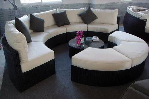 Exotic round sectional sofa gallery Glamorize Your Living Spaces With  Adding Round Sectional Sofas