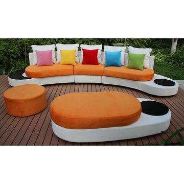China new design half round sofa furniture mixed colours