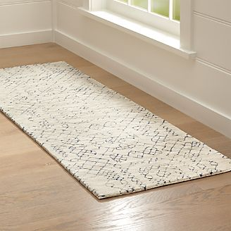 Azulejo Neutral Moroccan Style Rug Runner