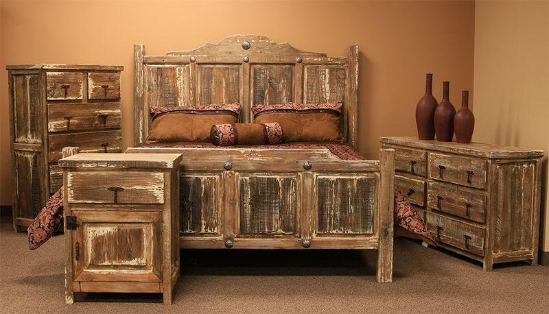 LMT | Minimized White Wash Rustic Bedroom Set | Dallas Designer