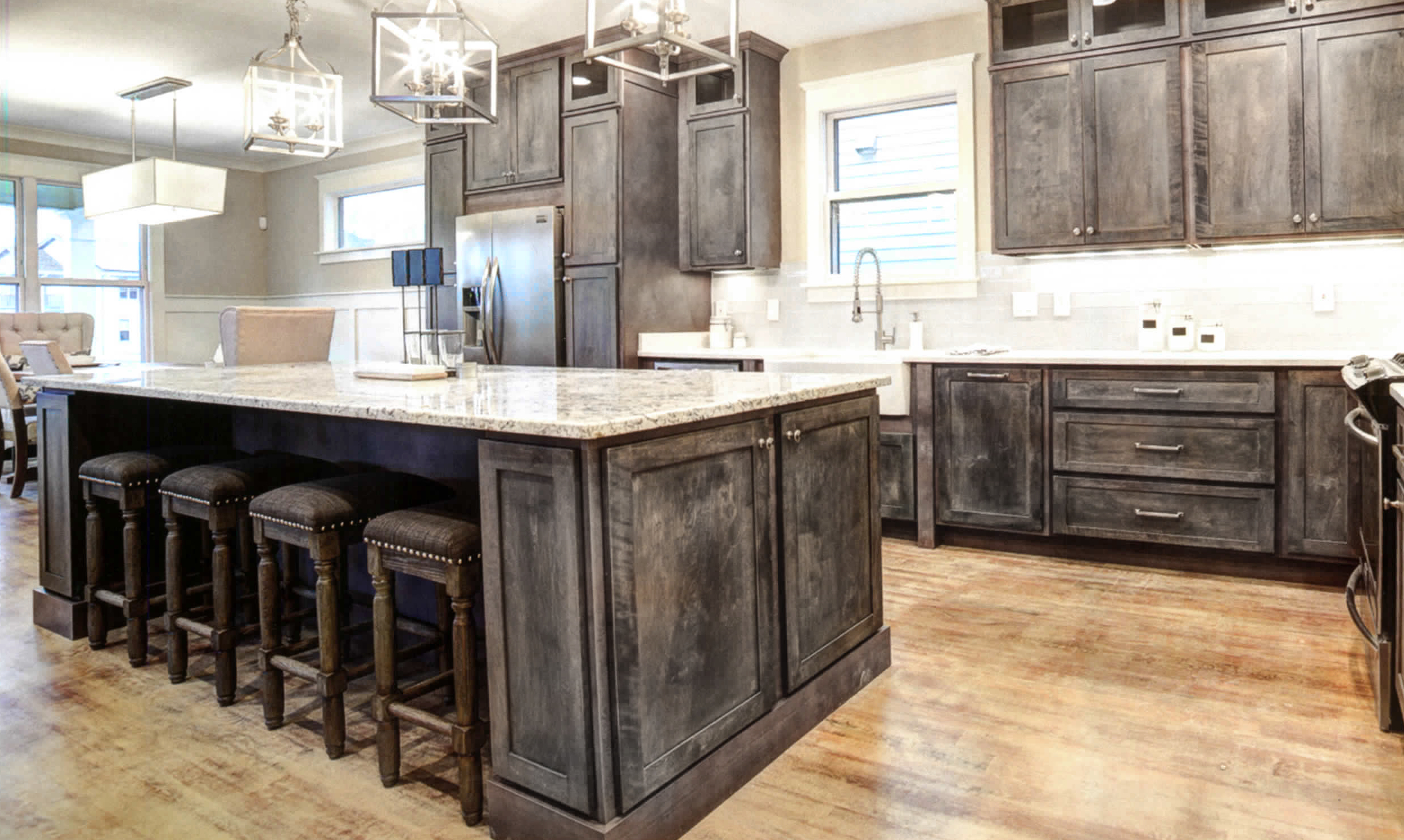 Rustic Shaker Gray kitchen cabinets, rta · Shaker Gray Rustic style kitchen  and vanities,