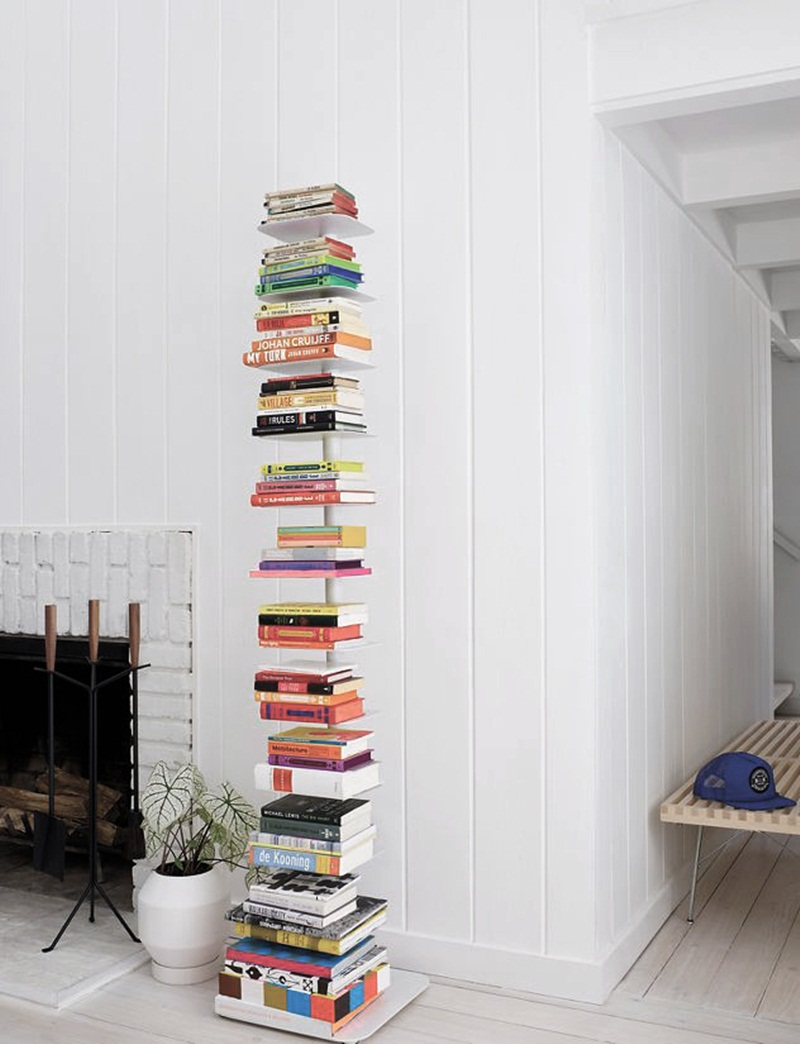 Anthracite Sapien Bookshelf White