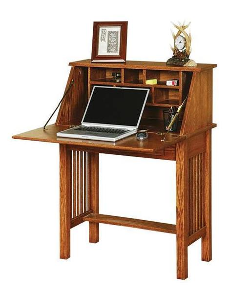 Ask us a Question. Solid Wood Mission Style Secretary Desk