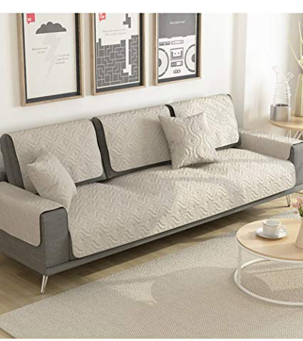 Cotton sofa covers,Couch slipcovers,Sectional sofa throw cover sets  anti-Slip cushion