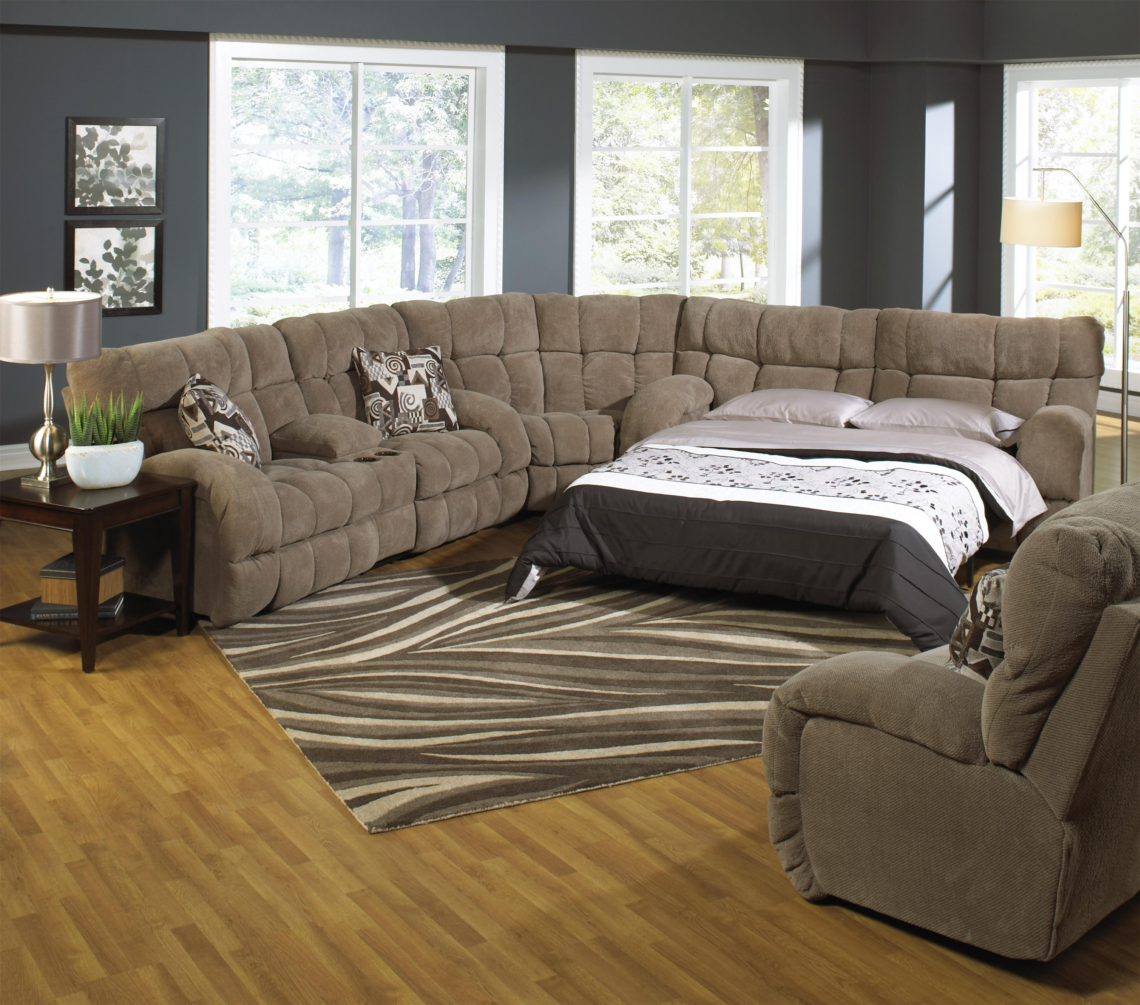 Reclining Sectional Sofa with Sleeper