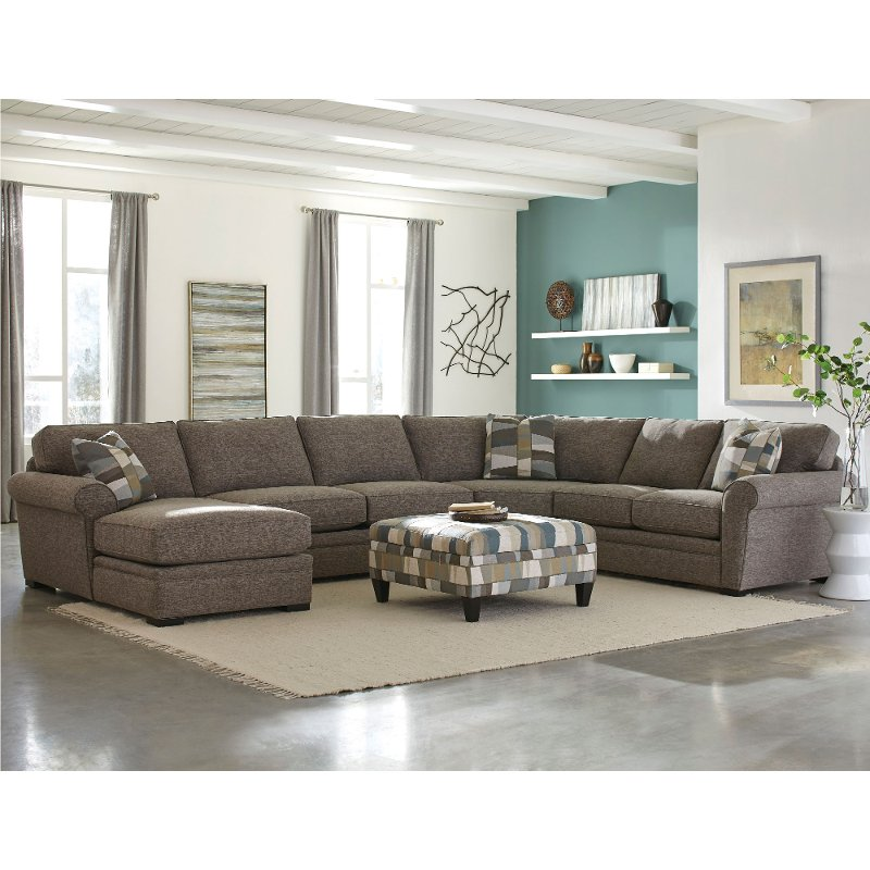 Brown 4 Piece Sectional Sofa with LAF Chaise - Orion | RC Willey Furniture  Store