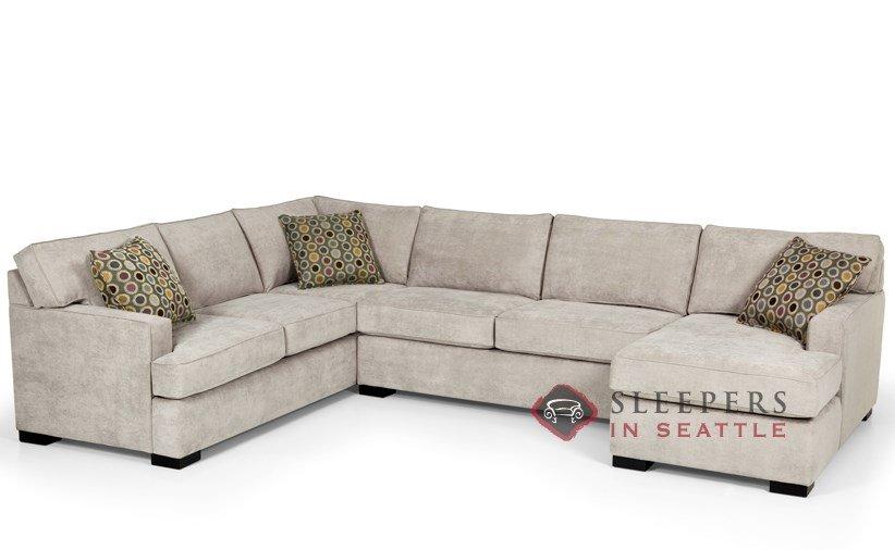 Stanton 146 U-Shape True Sectional Sleeper Sofa (Queen) in Bennett Moon