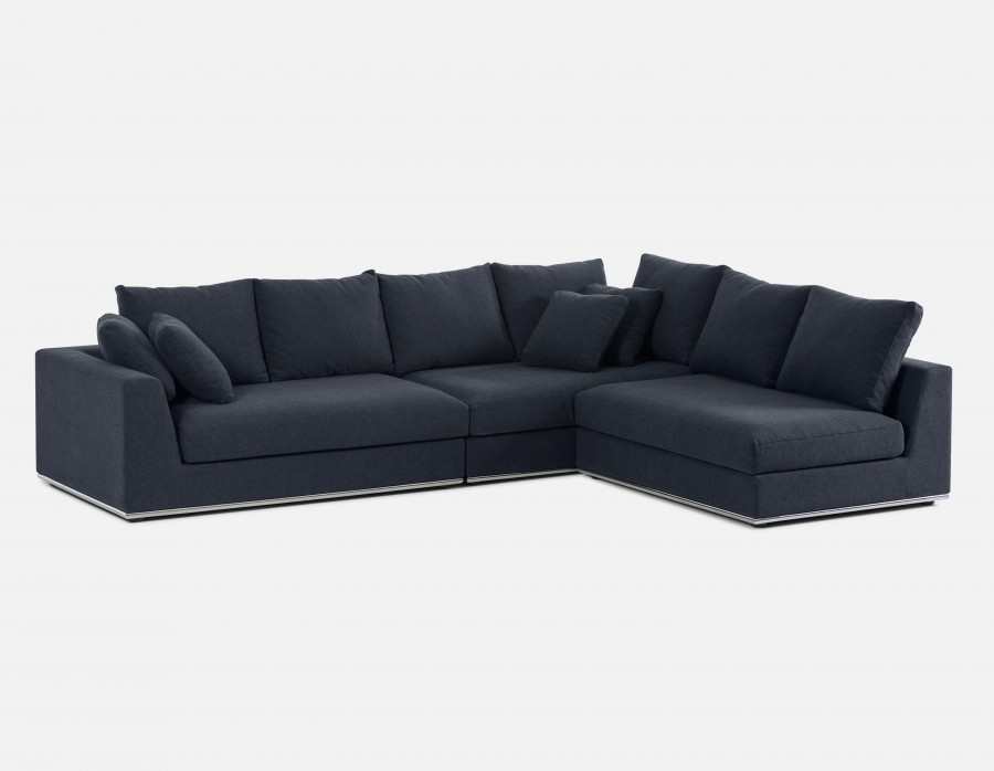 HORIZON - Modular Sectional Sofa - Dark Blue