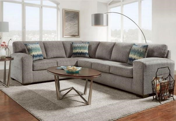 5950 Silverton Pewter Sectional Sofa by Affordable Furniture