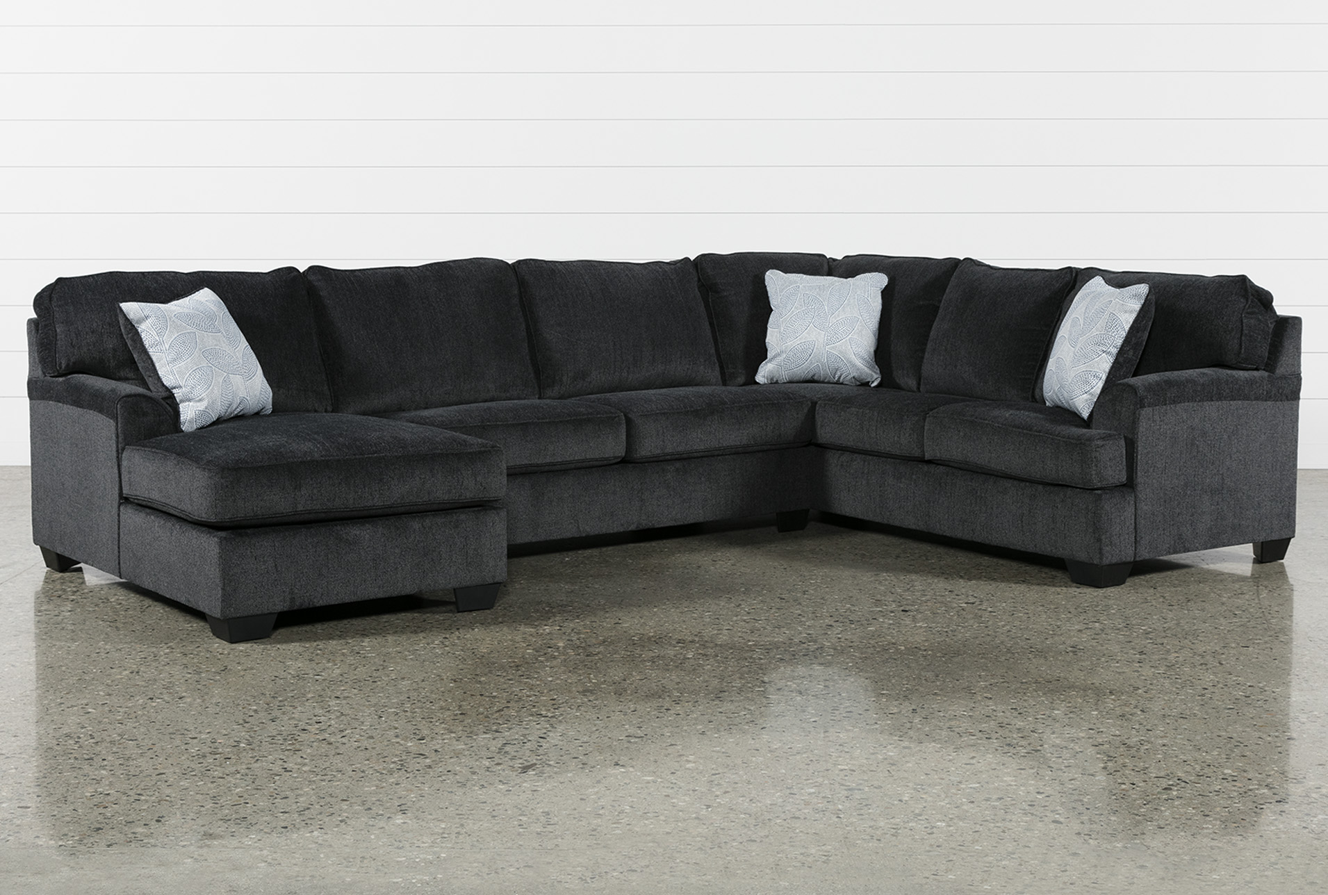 Calvin Slate 3 Piece Sectional With Laf Chaise