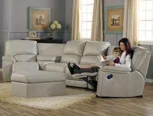 Dallin 41180 - 46180 Reclining Sectional - 450 Leathers and Fabrics. By  Palliser Furniture