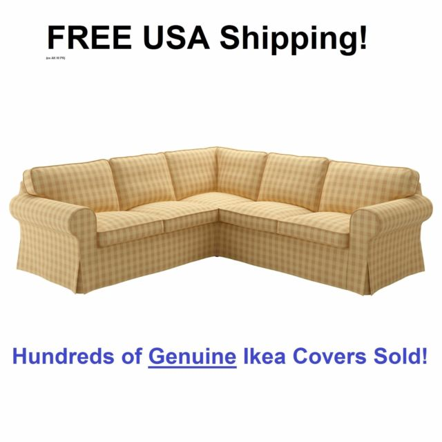 Ikea EKTORP 4 Seat Corner Sectional Sofa Slipcover Cover SKAFTARP YELLOW  Sealed!