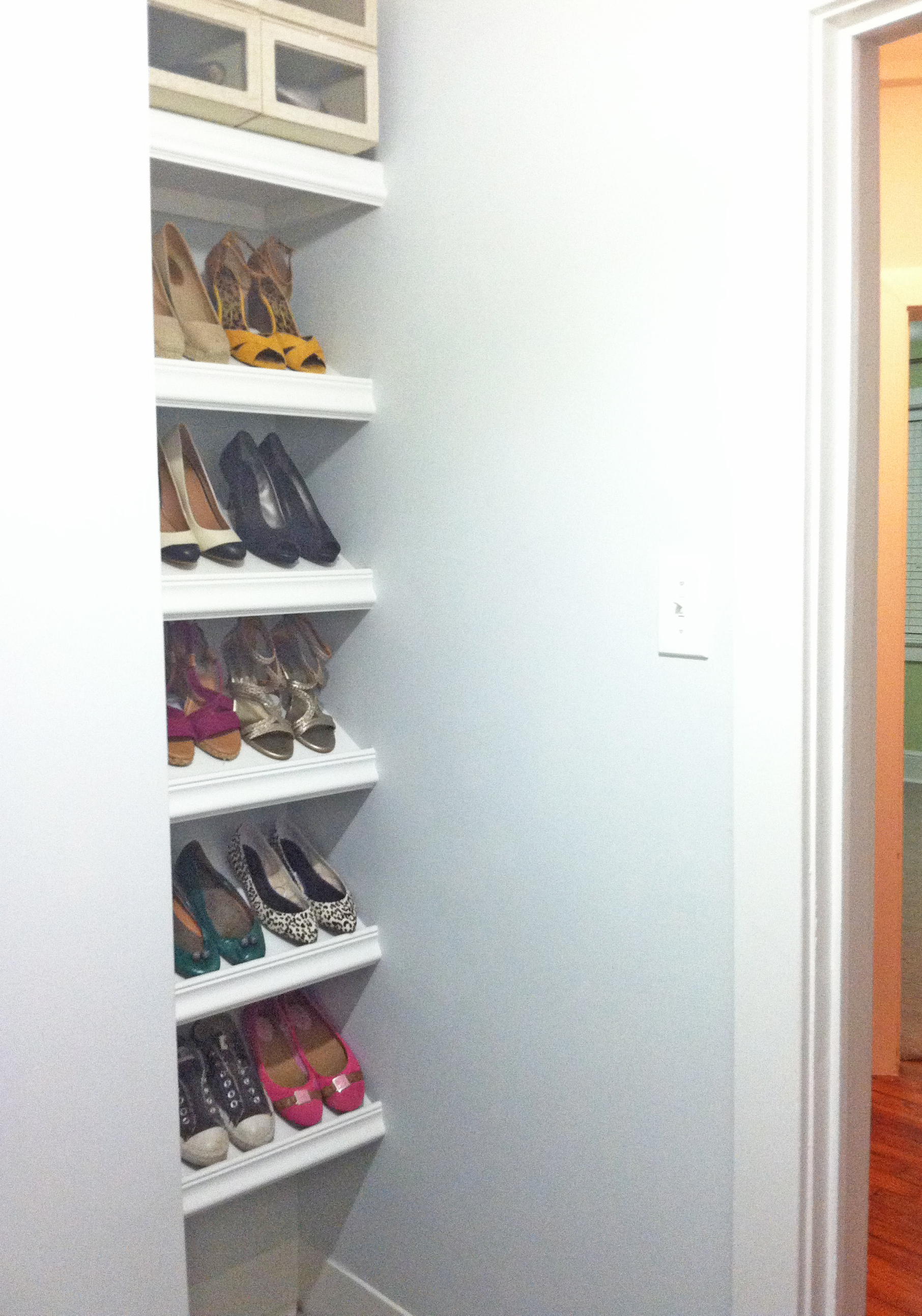 Designer Shoe Shelves on a Budget