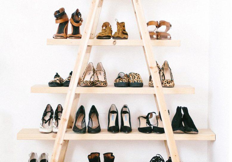DIY Update: The Ladder Shoe Shelf