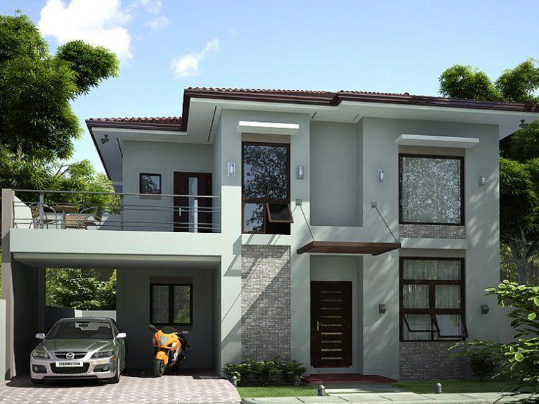 2 Storey Simple Modern House Design
