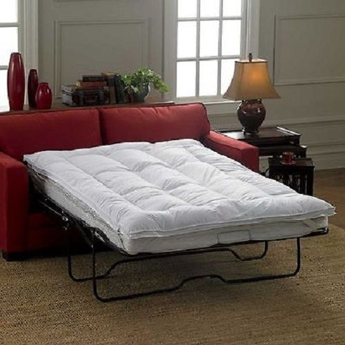 Details about Mattress Topper For COT Sleeper Sofa Bed Pillowtop Luxurious  Sleeping White S