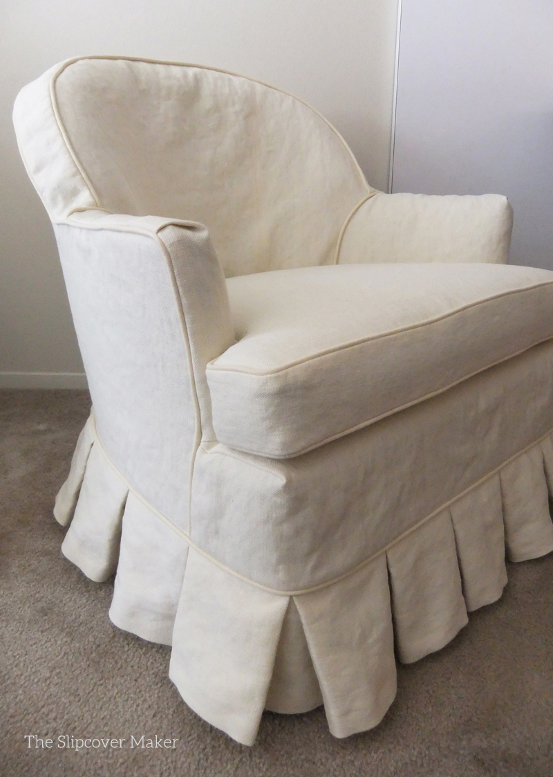Custom Hemp Slipcovers Update Old Chairs