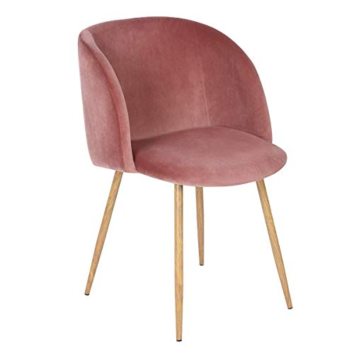 EGGREE Mid-Century Modern Accent Living Room Chair Upholstered Velvet  Armchair Kitchen Dining Chair with