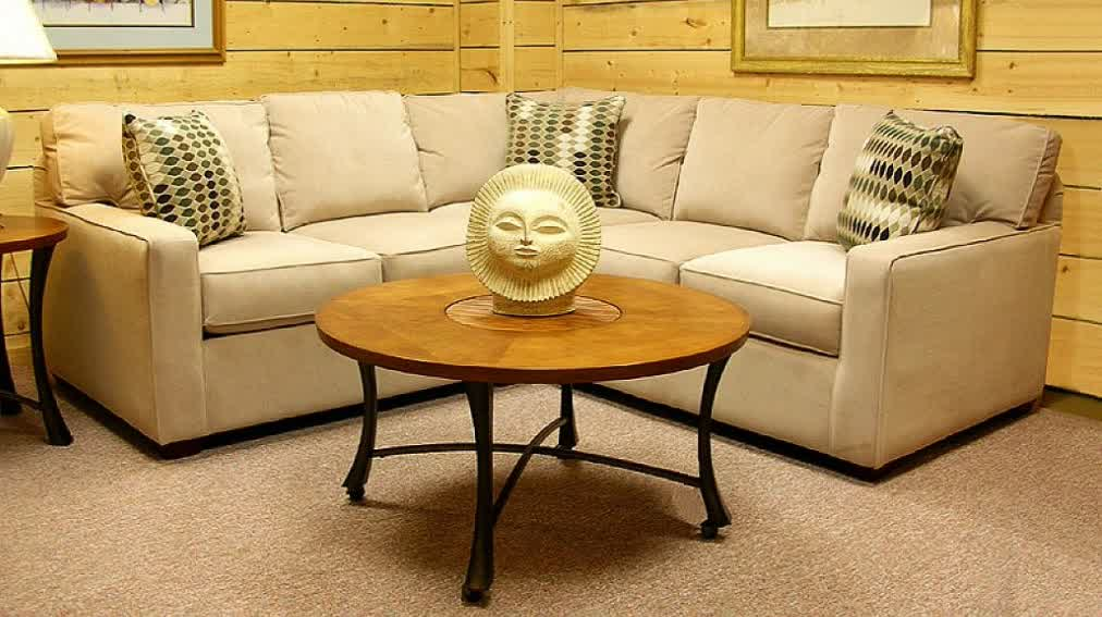 small corner sectional sofa for small living room round wood top center  table with decorative item
