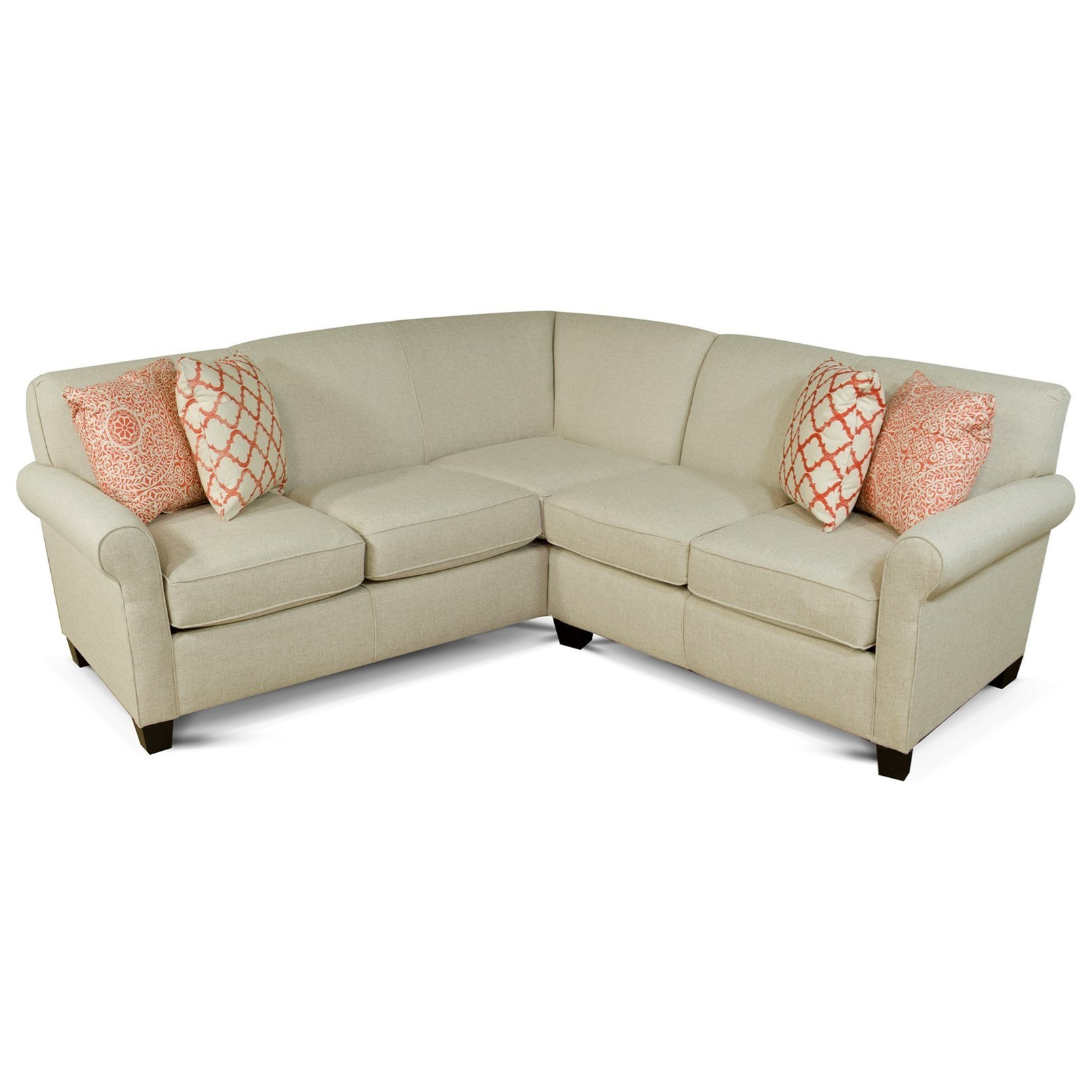 England Angie Small Corner Sectional Sofa   Dunk & Bright Furniture   Sectional  Sofas