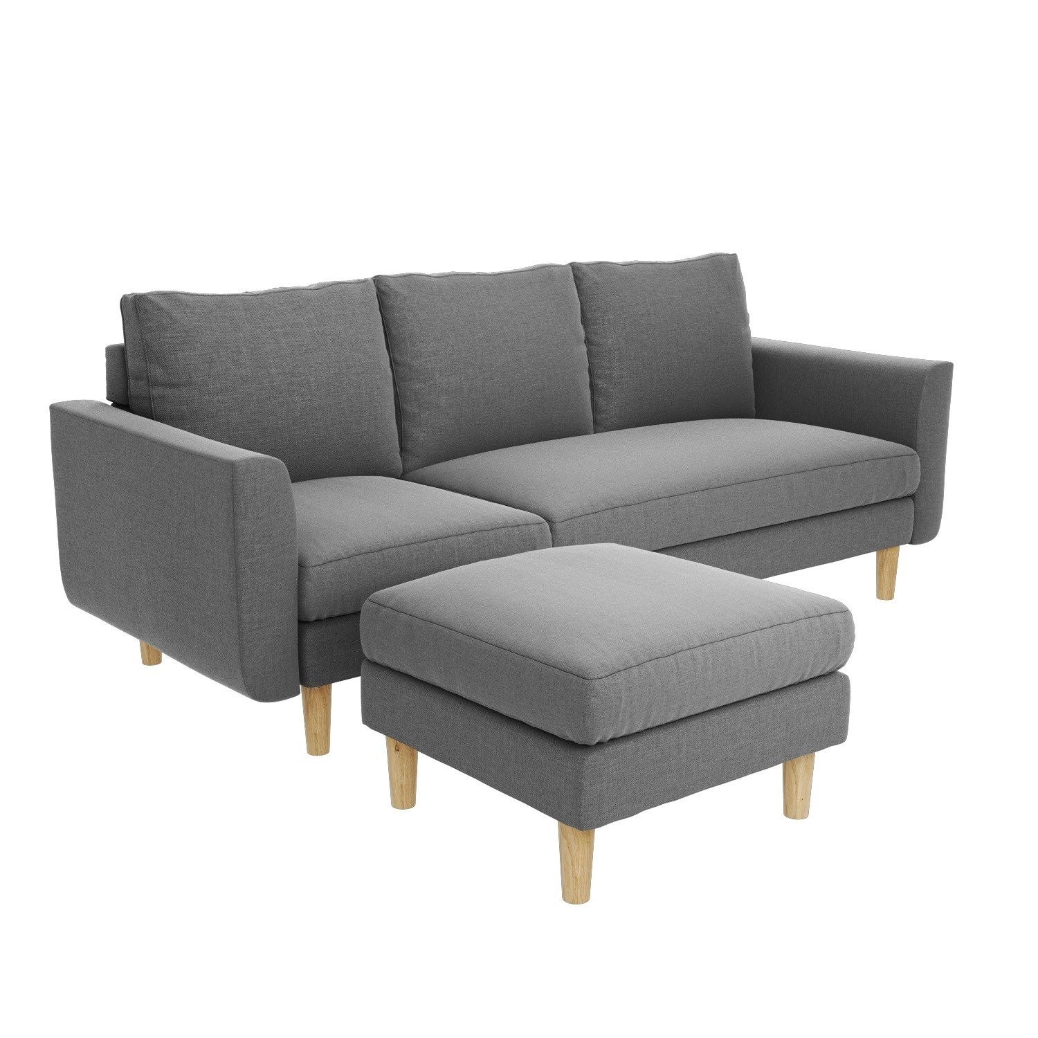 Brooke Light Grey 3 Seater Corner Sofa - Right/Left Hand Chaise