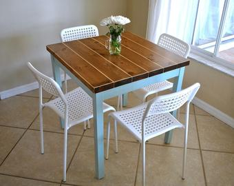 Made-To-Order - Farmhouse Breakfast Table - Table only - Small Dining Table
