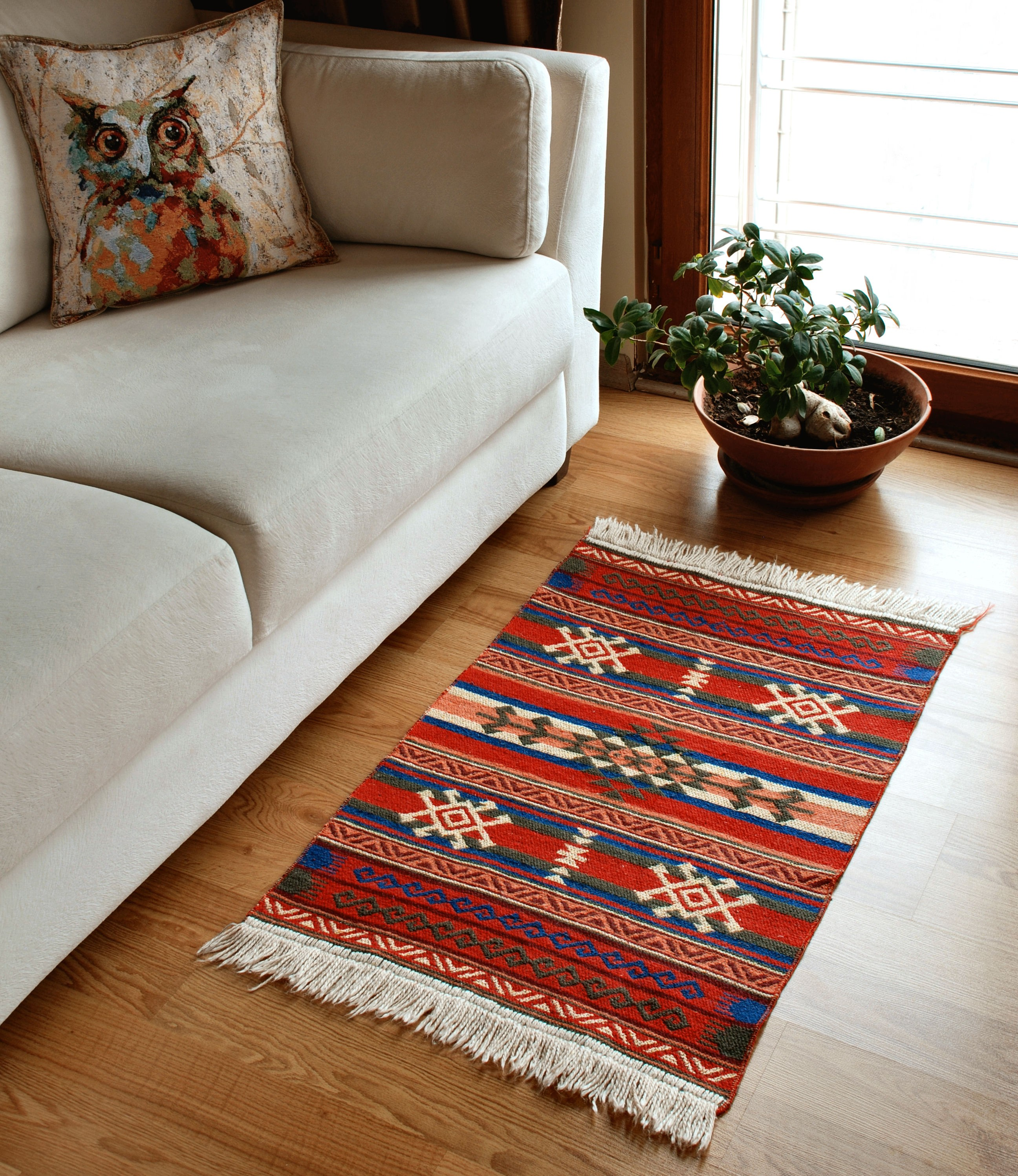 Small Area Rug - Anatolian Series - Red&Green
