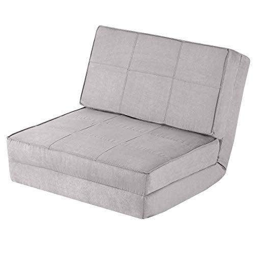 Giantex 5-Position Adjustable Convertible Flip Chair, Sleeper Dorm Game Bed  Couch Lounger Sofa