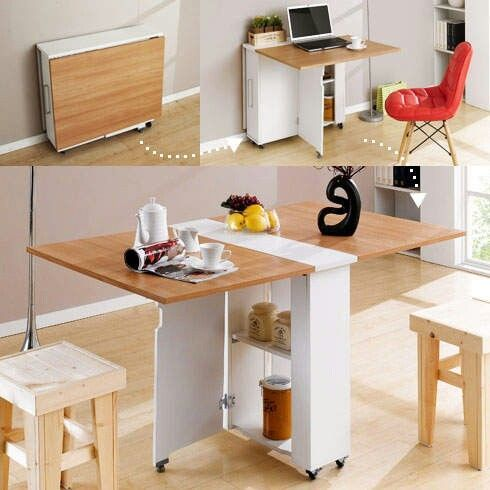 masa neobisnuita 7 Space Saving Table, Space Saving Ideas For Home, Space  Saving Storage
