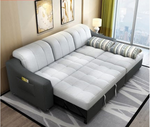 fabric sofa bed with storage living room furniture couch/ living room cloth sofa  bed sectional