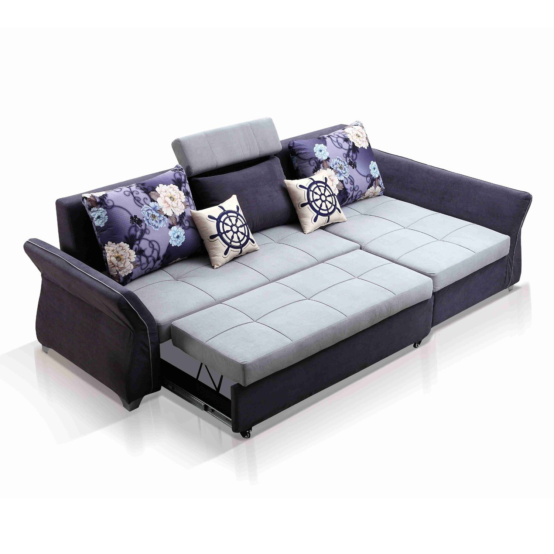 China L Shaped Sectional Sofa Cum Bed with Storage - China Fabric Sofa, L  Shaped Sofa