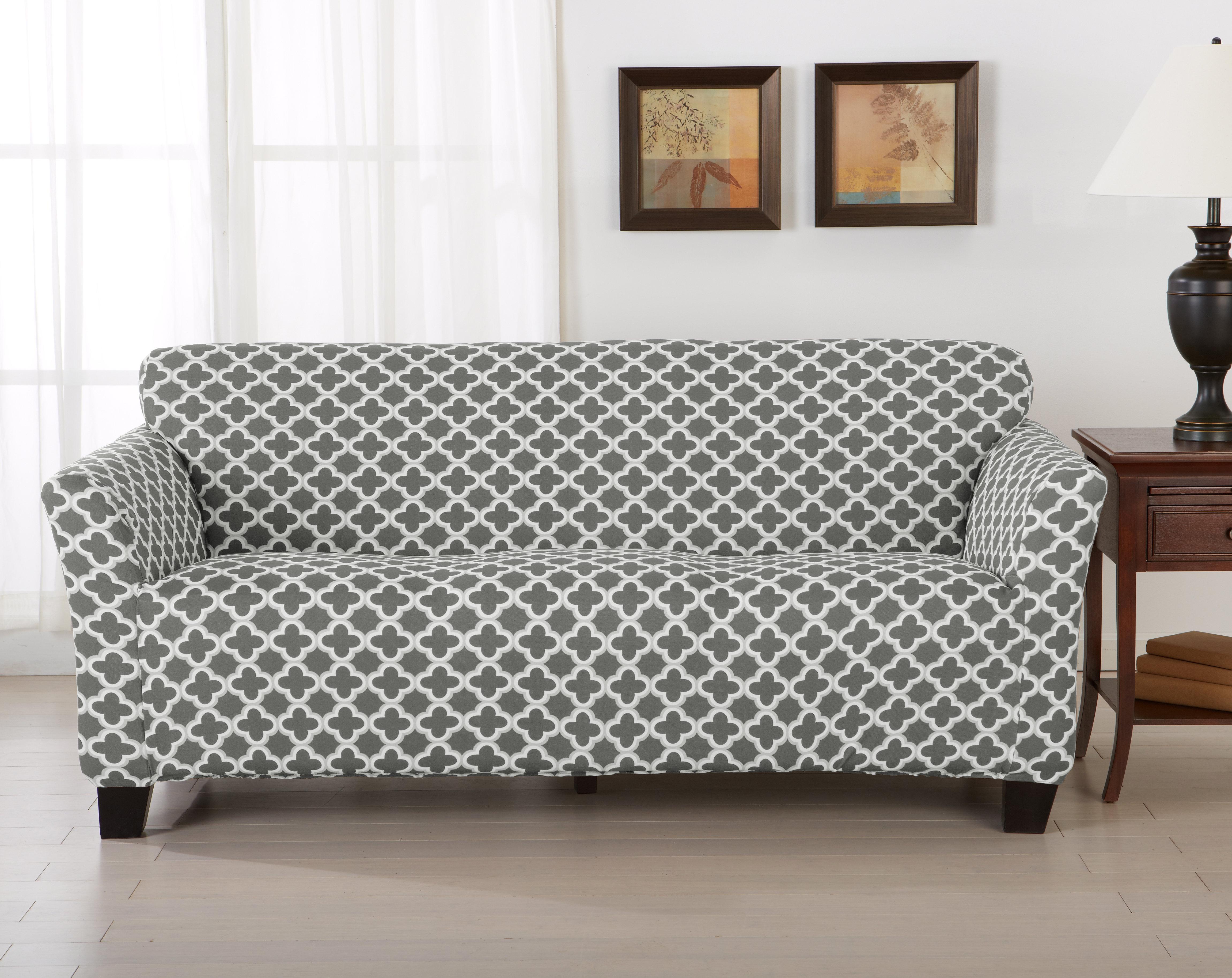 Home Fashion Designs Brenna Box Cushion Sofa Slipcover & Reviews | Wayfair