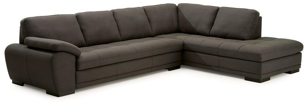 Palliser Miami Contemporary 2-Piece Sectional Sofa with Right-Facing Chaise  | Dunk & Bright Furniture | Sectional Sofas