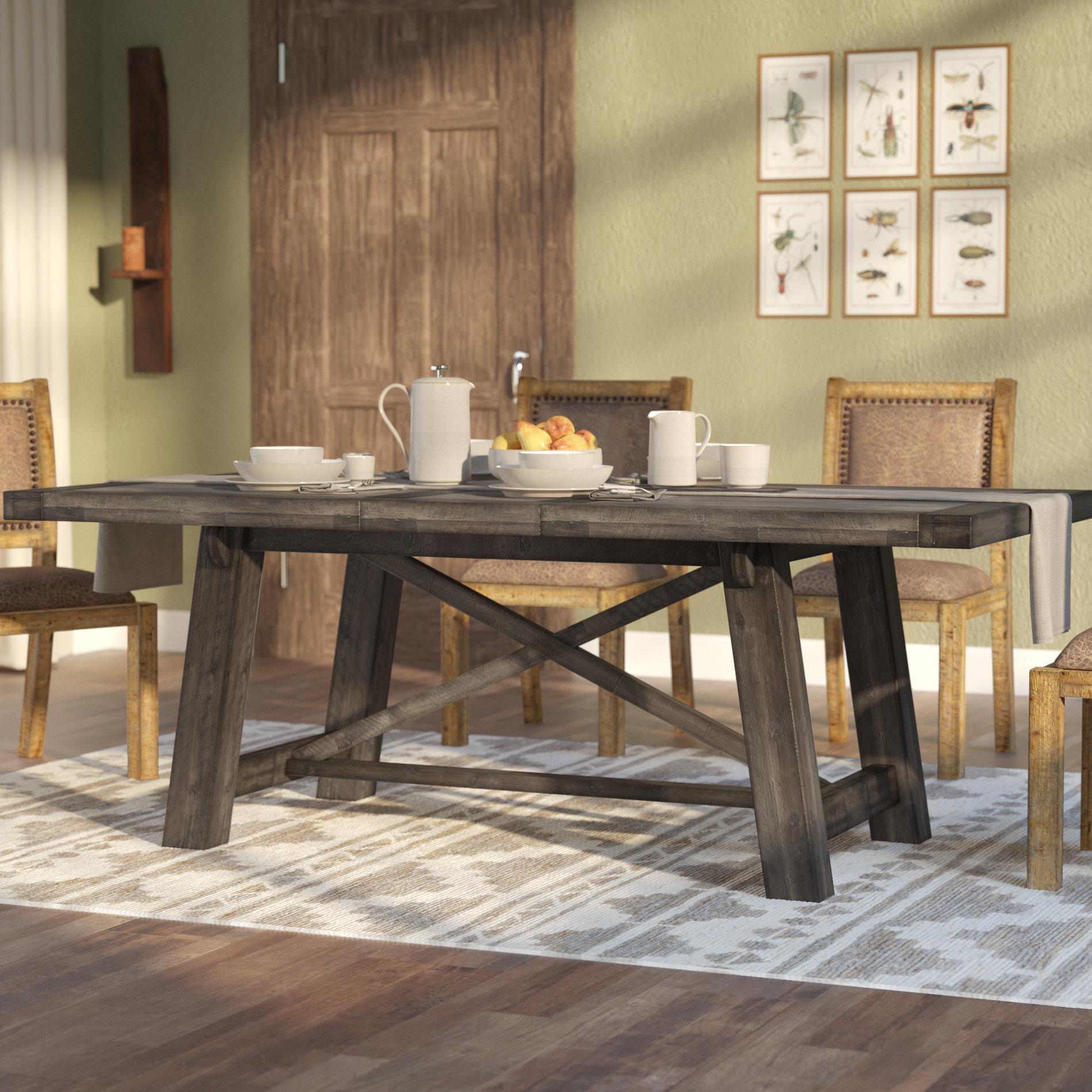 Laurel Foundry Modern Farmhouse Colborne Extendable Solid Wood Dining Table  & Reviews | Wayfair
