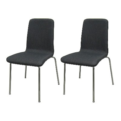 Upholstered Stacking Chair Flat Gray (Set of 2) - Room Essentials™