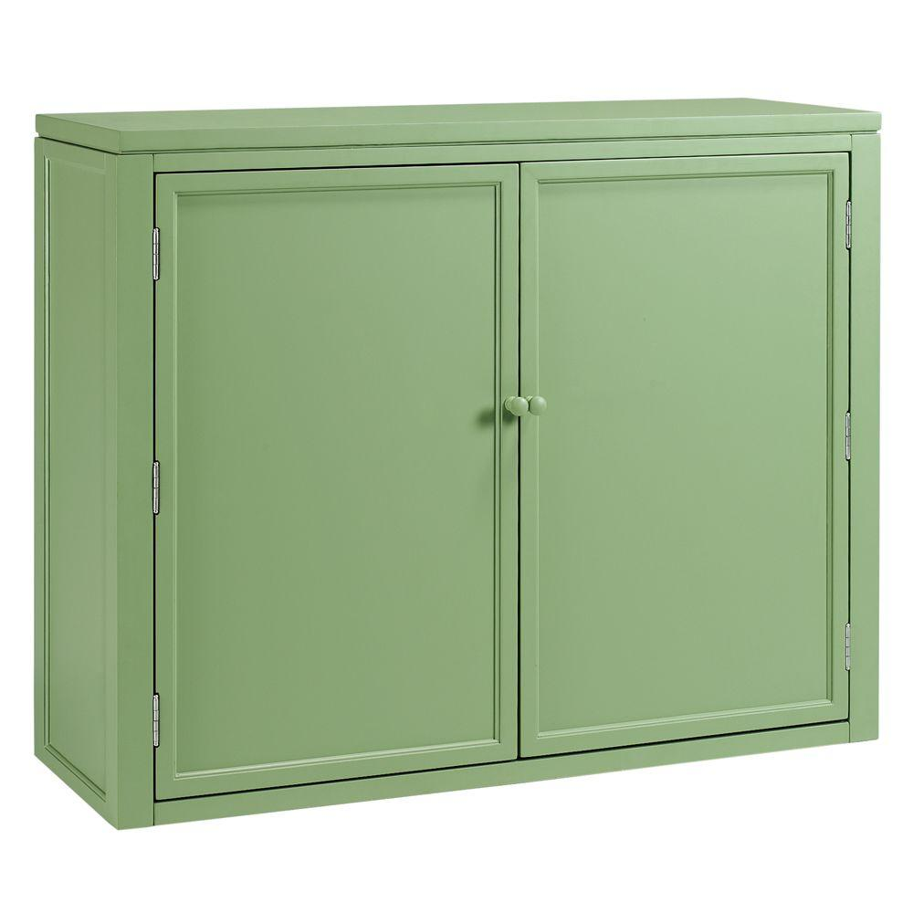 W Craft Space Storage Hutch in Rhododendron Leaf-0464200600 - The Home Depot