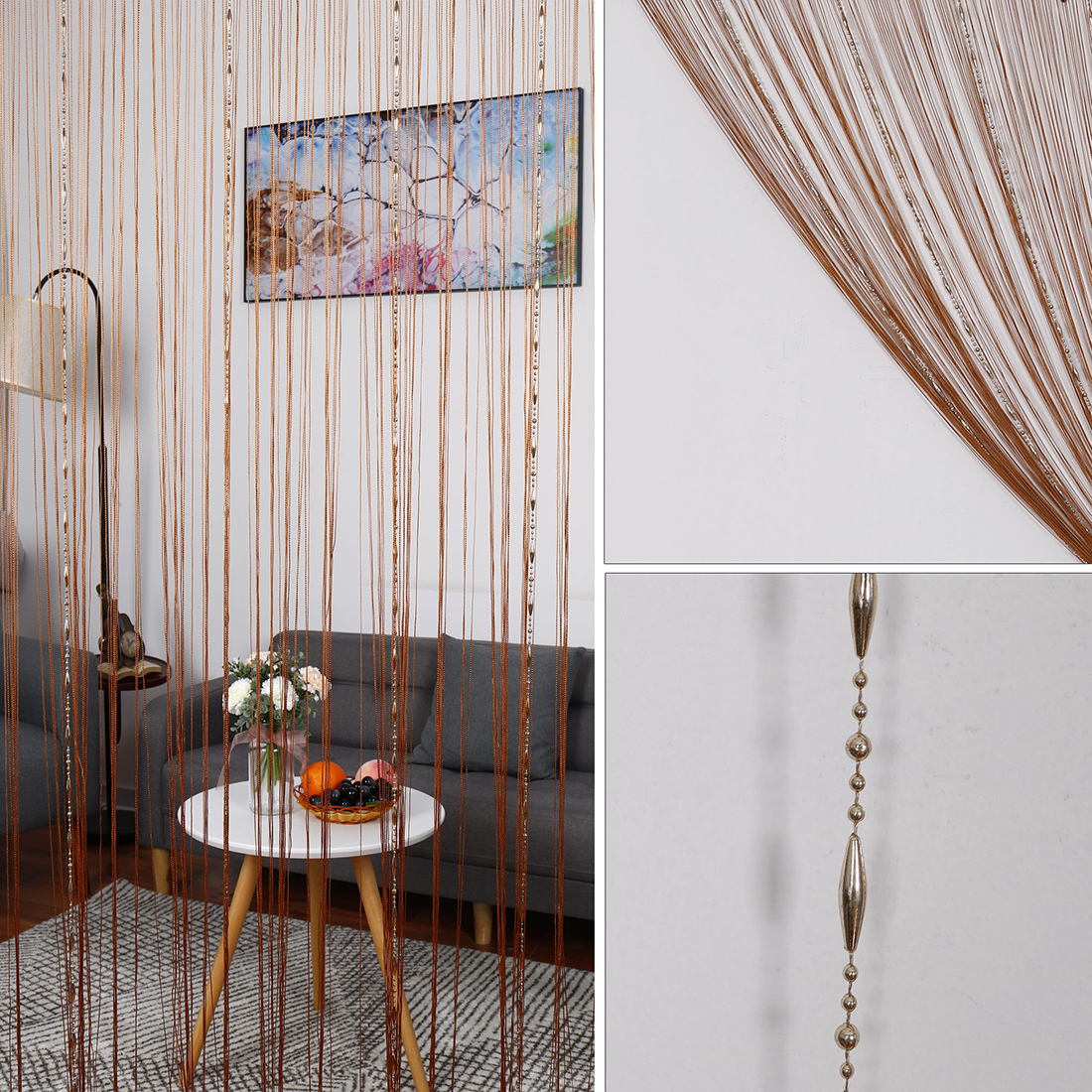 Room Divider Chain String Curtains Window Door Polyester Tassel Screen -  Traveller Location