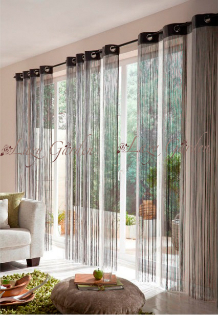 Free Shipping -- multi color, door/window panels, string curtains, room  divider, multi-grey, 140x245cm
