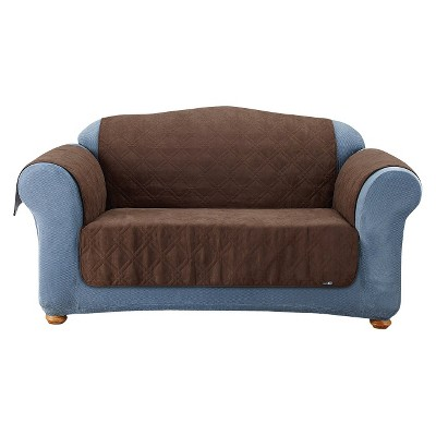Furniture Friends Quilted Suede Loveseat Cover - Sure Fit
