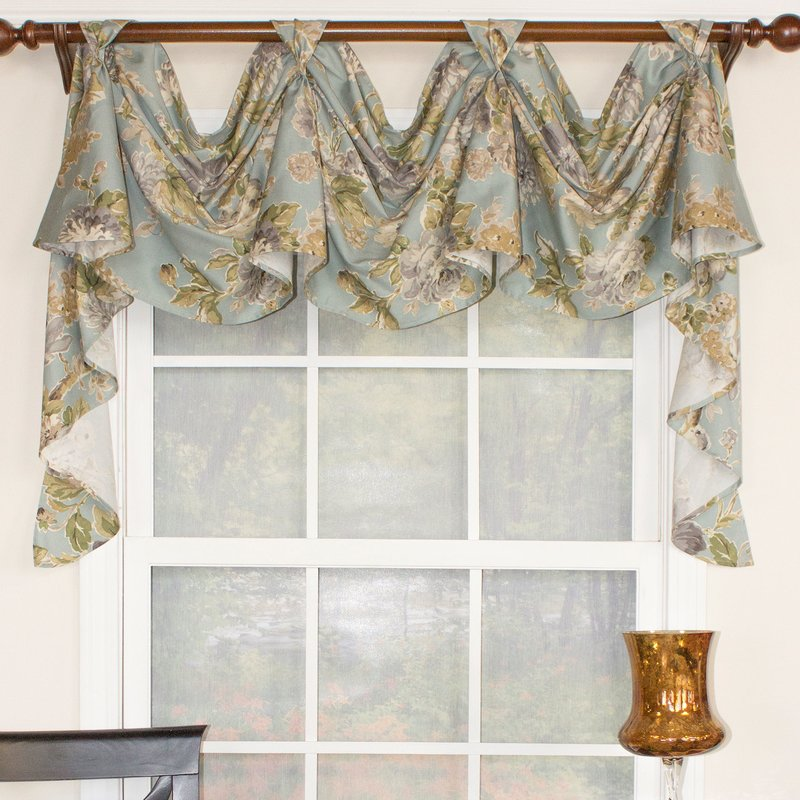 RLF Home Floral Essence 3-Scoop Victory Swag Curtain Valance & Reviews |  Wayfair