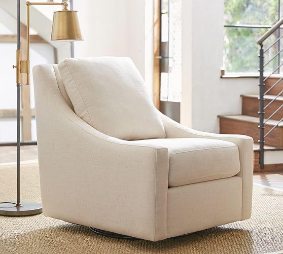 Aiden Upholstered Swivel Armchair