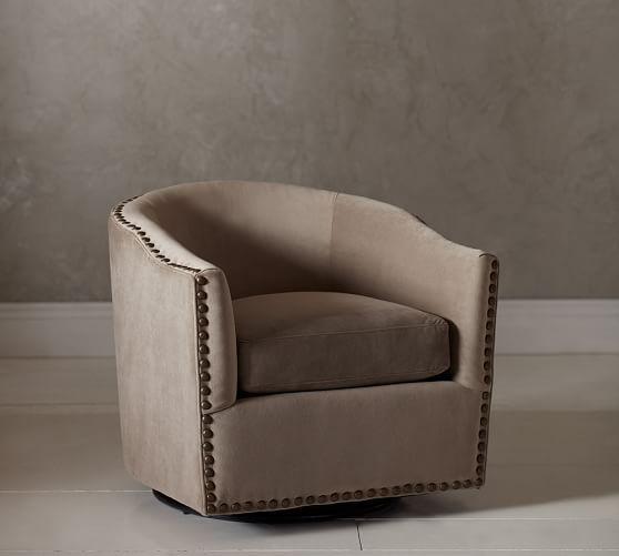 Harlow Upholstered Swivel Armchair