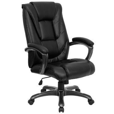 High Back Executive Swivel Office Chair Black Leather - Flash Furniture :  Target