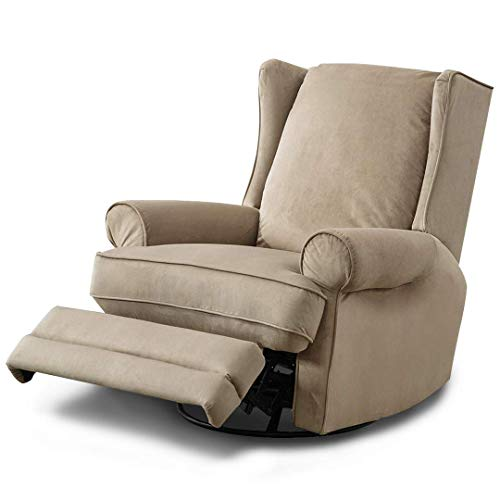 BONZY Oversized Modern Wingback Swivel Glider Recliner Chair