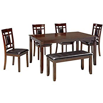 Ashley Furniture Signature Design - Bennox Dining Room Table and Chairs  with Bench (Set of