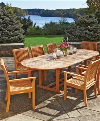 or in the garden during the warmer months will become second nature  when the setting includes the sophistication of teak furniture.